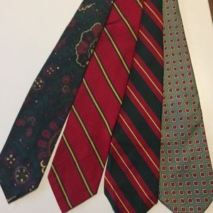 Set of 4-vintage polo ties
